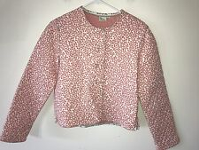 Preowned Women's Vera Bradley Quilted Buttoned Down Jacket, Pink, Large