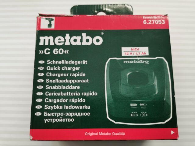 12 V NiCd Metabo Ladegerät C 60 EU 627053000