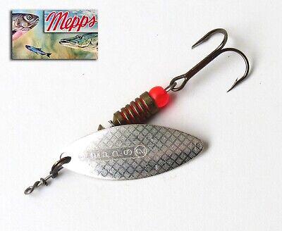 Cuiller Mepps Aglia Long  Argentée T 0 original Spinner 4,5 mm 2,5 grs
