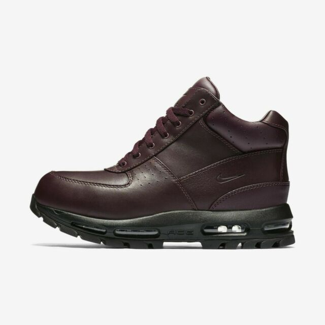 Nike Air Max Goadome ACG Leather Boots Burgundy Black 865031 604 Mens Sz 7 14