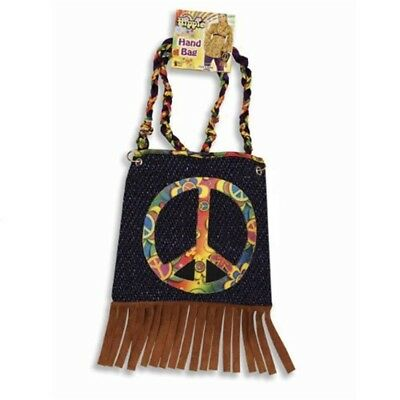 Bristol Novelty Ba2122 Hippy Bag With Tassels One Size Adults Tassels Ladies