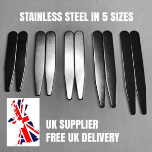 Metal-Shirt-Collar-Stiffeners-Stainless-Steel-Magnet-Friendly-Choice-of-5-Sizes