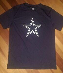 child-size-M-12-14-Dak-Prescott-4-Dallas-Cowboys-Authentics-T-Shirt-BLUE-euc