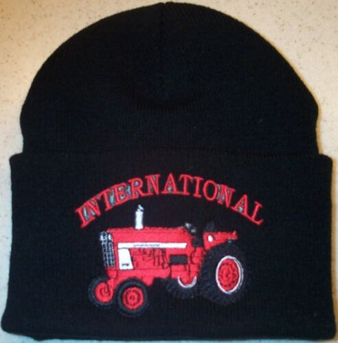 """International 966//1066 Embroidered Beanie w///""""International/"""" 4 colors"""
