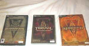 Morrowind-full-set-originals-INC-Tribunal-amp-Bloodmoon-manuals-amp-maps-PC-NR-MINT