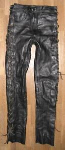 sehr-schmale-Schnuer-LEDERJEANS-Biker-Lederhose-in-schwarz-ca-W26-034-L31-034