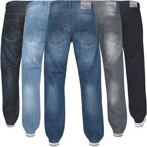 Homme-Coupe-Standard-Jeans-Coupe-Droite-Denim-Travail-Pantalon-kruze-Big-King-toutes-tailles