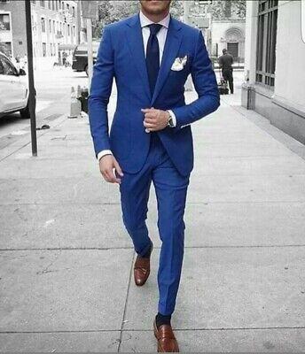Vestiti Uomo Cerimonia.Vestito Uomo Blu Elegante Slim Fit Abito Cerimonia Sartoriale