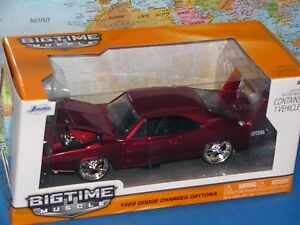 1-24-Jada-Bigtime-Muscolo-1969-Dodge-Charger-Daytona-Rosso-Pressofuso-Nuovo-amp