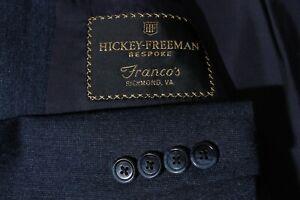 Hickey Freeman Bespoke Men's Navy Sport Coat Jacket Blazer Size 44R