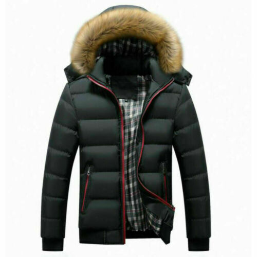 MENS WINTER WARM PUFFER BUBBLE JACKET COATS CASUAL QUILTED PADDED ZIP UP OUTWEAR