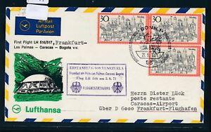 15517) Lh Ff Francfort-caracas 2.6.71, Sou Auchinleck 3x30pf Nuremberg Mangez Bonn-afficher Le Titre D'origine Divers ModèLes RéCents