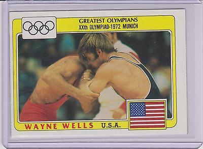 "Olympics Cards Super Rare 1983 ""black Ring"" Olympic Wayne Wells Wrestling Card #56"