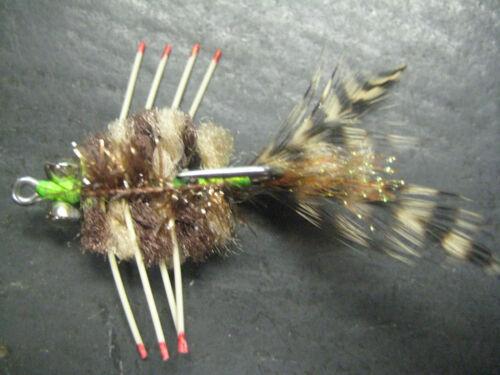 6 Mini D/'s Crab Lagoon  Brown # 4 Fly Fishing Flies Brookside Crabs Bonefish