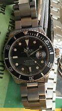 Rolex SS Vintage SUBMARINER DATE 16800 BLACK Matte DIAL 40MM 3035 Movement