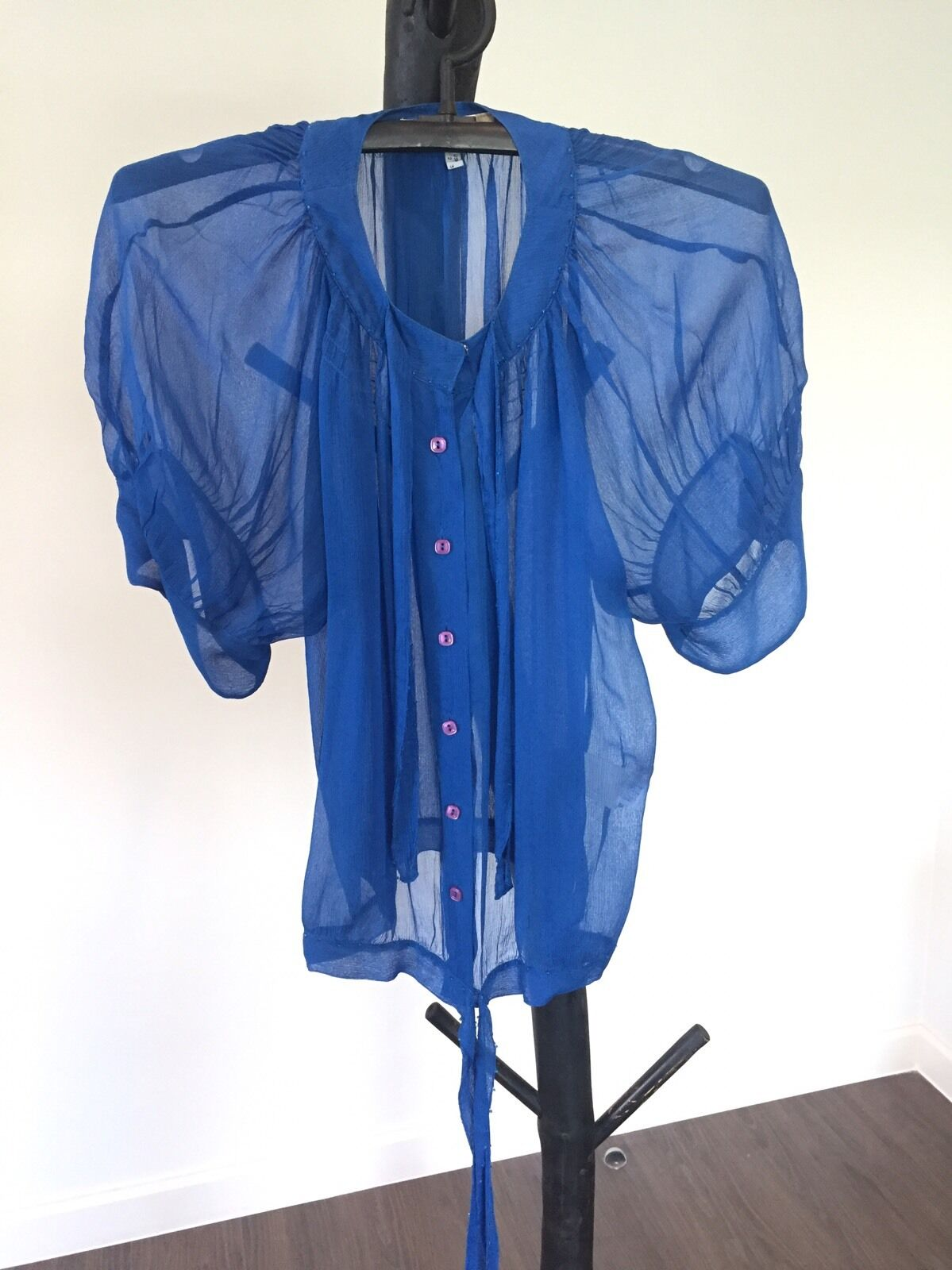 Women's See By Chloe1 Luxury Sexy Silk Blouse Shirt Size 38