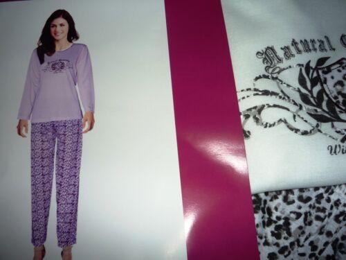 Damen Pyjama Schlafanzug lang Natural Elements Wildlife Passion Gr S XXL Wahl