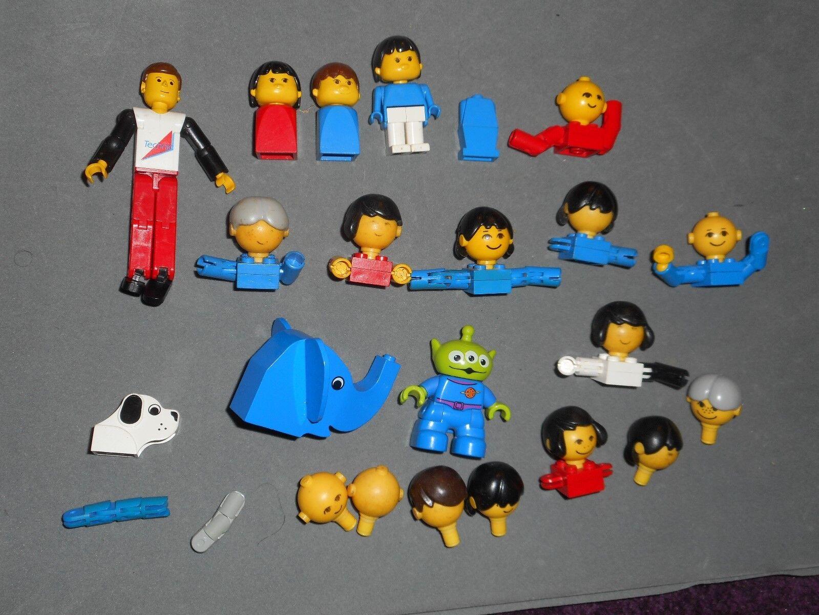 Bundle vintage Lego people figures spares & Duplo Toy Story Alien Elephant Dog