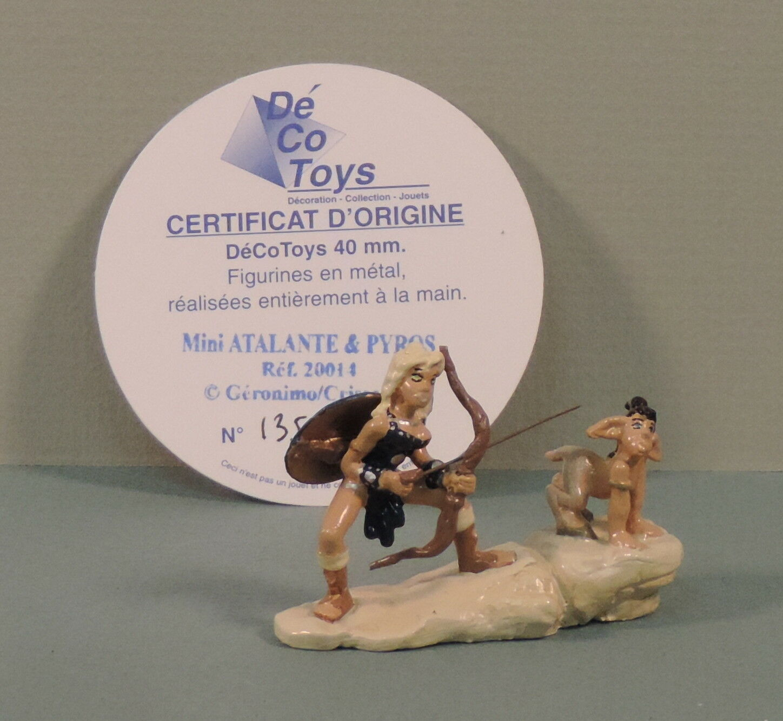 Atalante et pyros mini - statuette metall decotoys 20014 numerote