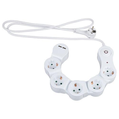 Prise de courant Barre USB Prise Chargeur Fiches plates de distribution Câble Un-de commutateur