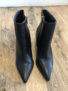 Asos Ladies Black Leather Ankle Boots