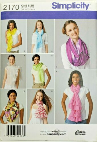 Simplicity 2170 Scarves 4 Different Ways UNCUT Sewing Pattern