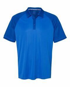 Adidas-Climacool-Jacquard-Raglan-Polo-Shirt-Mens-Adult-Size-Golf-Sport-New-A207