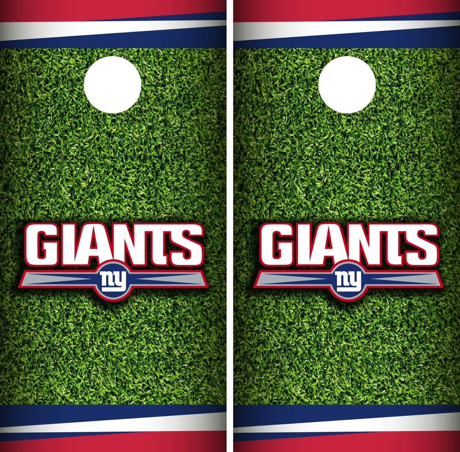 New York Giants Field Cornhole Wrap NFL Game Board Skin  Set Vinyl Decal CO93  more order