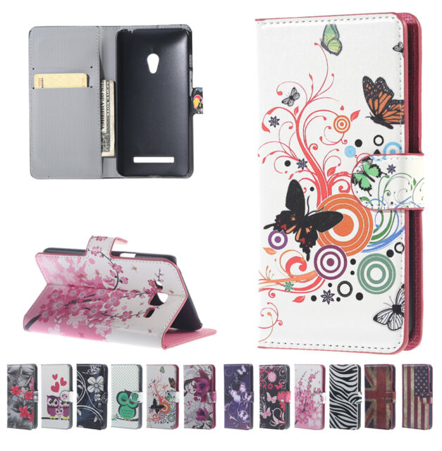 Fashion Wallet Card Slot Holder Stand Flip PU Leather Cover Printed Case For LG