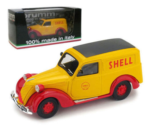 Brumm Fiat 1100 Furgone Publicity Vehicle for Shell - Italian GP 1958 1 43 Scale