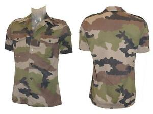 Army Shirt French Military Surplus Combat Issued Camo Short Sleeve Camouflage