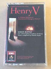 Henry V, orig film soundtrack, SEALED, 1989 EMI Cassette, Doyle/Branagh, Rattle