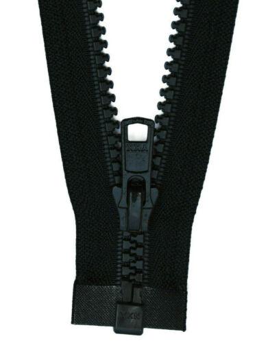 u.ä. 1 Weg Reißverschluß Kunststoff 5 mm schwarz-blau 50-100 cm für Jacken