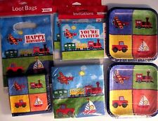 Planes, Trains, Boats & Trucks On The Go Birthday Party Supply DELUXE Kit