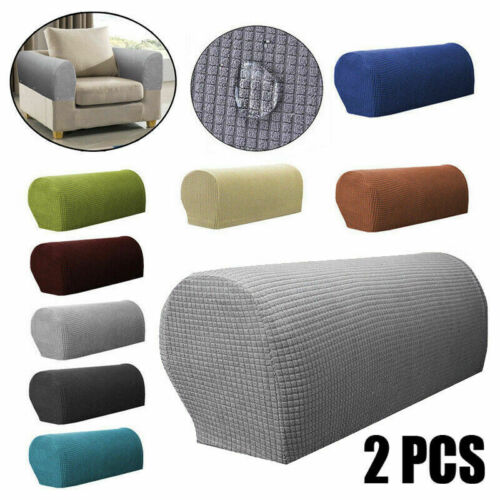 2PCS Removable Furniture Armrest Covers Sofa Couch Chair Arm