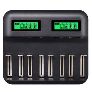 8-Slots-LCD-Display-Chargeur-De-Batterie-Intelligent-Usb-pour-Aa-Aaa-Sc-C-T-Q7J6