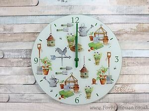 Jardin-verre-horloge-murale-30cm