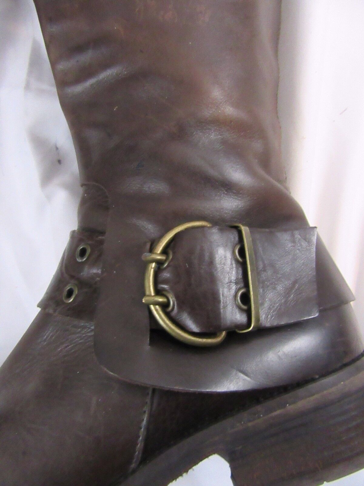 Damenschuhe Damenschuhe Damenschuhe Cordani Calf high Braun Leder Stiefel, buckle, side zip, Größe 8 B  c4bc1f