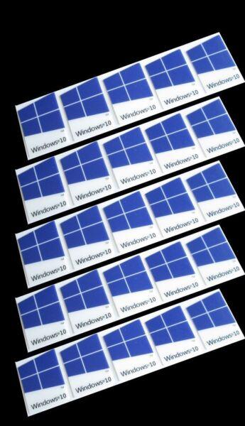 25 Pcs Windows 10 Sticker Badge Logo Decal Dark Blue Color 16mm X 22mm Us Seller Zorgvuldige Verfprocessen
