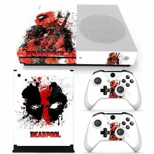 deadpool vinyl skin decals stickers for xbox one s console 2 controllers marvel ebay. Black Bedroom Furniture Sets. Home Design Ideas