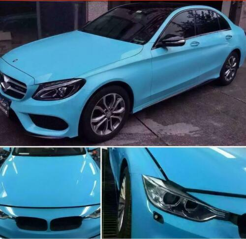 High Gloss Vinyl Wrap Vehicle Glossy Film Foil Air Bubble Free Car Styling