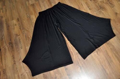 MYO Lagenlook überweiter Hosenrock BLACK A-Linie 44,46,48,50,52,54// XL,XXL,XXXL