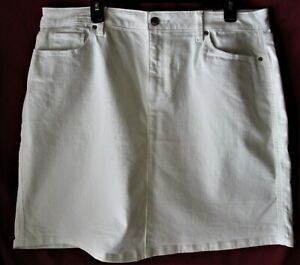 Women-039-s-White-Denim-Skirt-Size-16-18-NWT