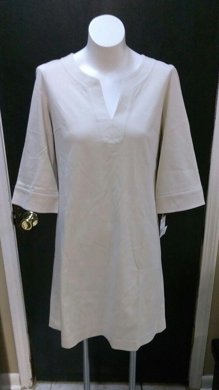 TAKASHIMAYA 3 4 sleeve  v neck  dress sz 11