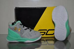 huge discount e2308 812e6 Details about Under Armour Curry Two Infant Baby Basketball Shoes 1286153  053 Gray/Green NIB