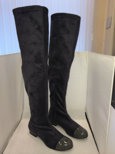 Patrizia Dini Stiefel Overknees Overkneestiefel grau Größe 35-37+39-41 NEU