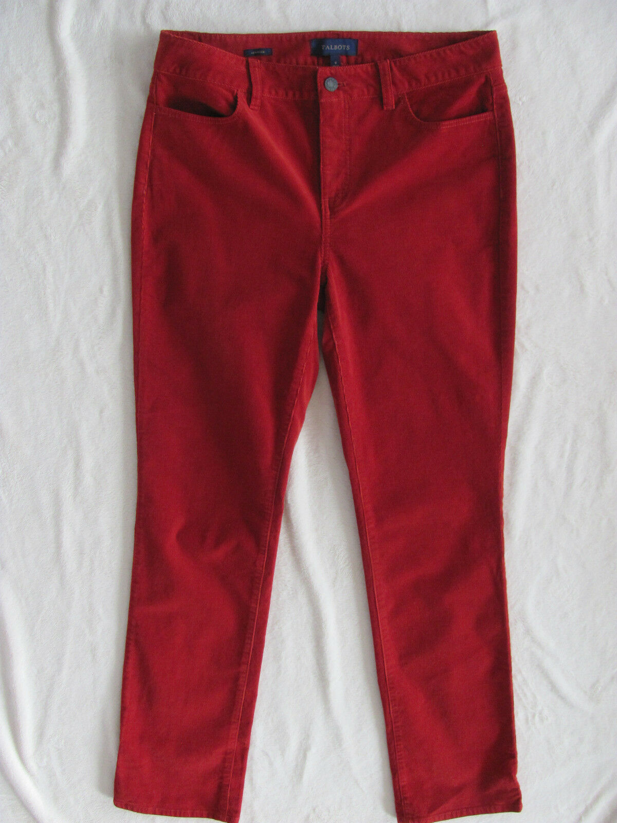 Talbots Heritage Straight Corduroy Pants- Rust - Size 8- NWT  89
