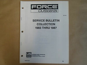 1983 1987 Force Outboards Service Bulletin Collection Ob 4223 Boat