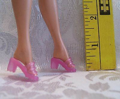 NEW FITS BARBIE MALIBU AND SILKSTONE 1 PAIR LIGHT SHEER PINK OT SHOES