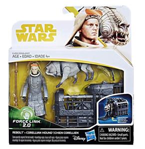 Disney-Star-Wars-3-Solo-2-pk-Rebolt-amp-Corellian-Hound-Action-Figures-NEW